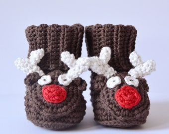 5f67378c62007e The Reindeer Christmas Boots - Instant Download PDF Crochet Pattern