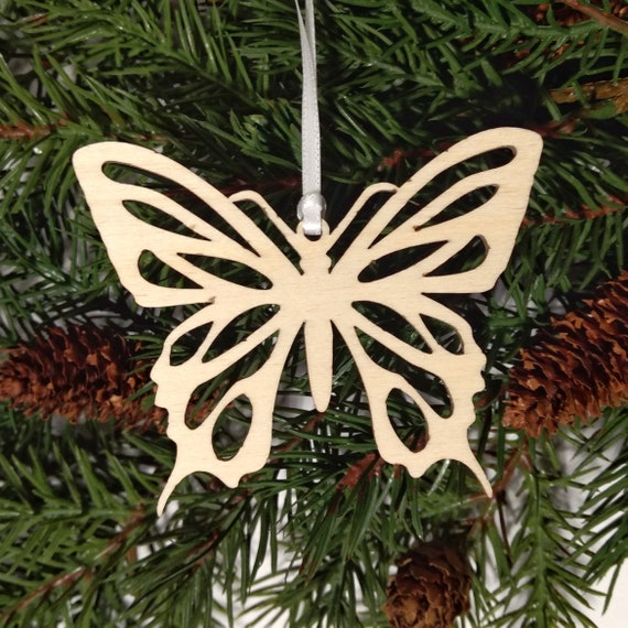 Butterfly on a Branch Butterfly Christmas Gifts Monarch Butterfly Ornaments Unique Butterfly Gifts Butterfly Ornaments