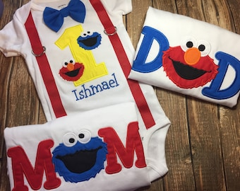 Elmo 1st And 2nd Birthday Shirt For Girls Toddlers Sesame Street