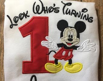 e8065c8d8 Boys Mickey Birthday Shirt, Classic Mickey Birthday, mickey first birthday, mickey  mouse birthday shirt, mickey party shirt, mickey birthday