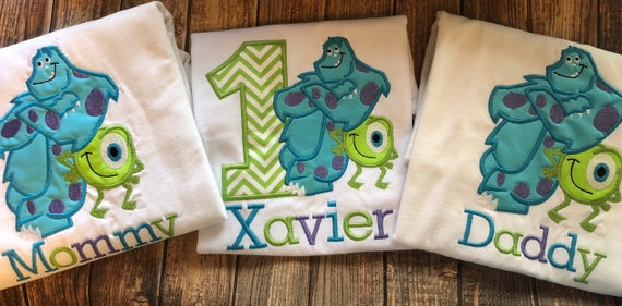 Boys First Birthday Monsters Inc Mike And Sully Birthday Etsy