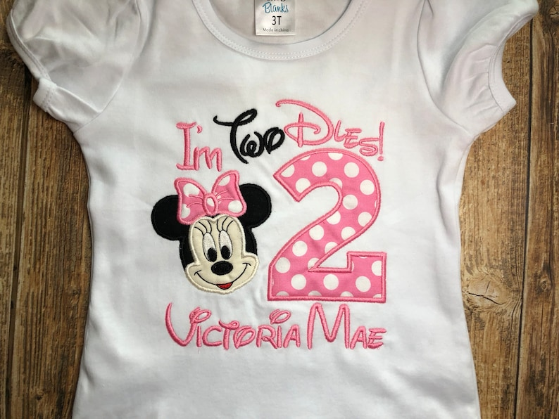 Girls Minnie Mouse Birthday Party Shirts With Matching Parent