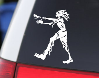 Horror Decor, Zombie, Walking Dead, Horror Decal, Halloween Decor, Scary Art, Zombie Sticker, Car Decal, Window Sticker,