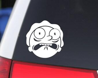 Vinyl Sticker, Rick & Morty, Morty, Get Shwifty, DECAL, STICKER, Fan Art, SciFi, Mad Scientist, Halloween Sticker