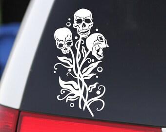 Skulls, Skull Bouquet, Skull Flowers, Human Skull, Halloween Sticker, Oddities, Skull Decal, Skull Art, Beautiful Skull