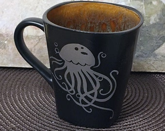 Jelly Fish, Gift, Holiday Gift, Ocean Gift, Coffee Mug, Gift for Ocean Lover, Ocean Theme, Jellyfish Art, Housewarming Gift, Holiday Gift
