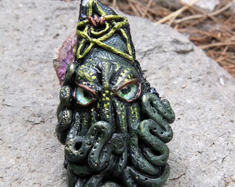 Squid, Sculpture, Creature Design, Polymer Clay Sculpture, Polymer Clay, Cephalapod, Cthulhu, Elder God, HP Lovecraft, Steampunk Art
