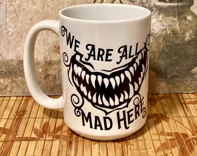 Featured listing image: Coffee Mug, Horror Coffee Quote, Horror Gift, Fun Gift, Coffee Mug, Scary Mug, Gift for Coffee Lover, Coffee Mug, Goth Coffee