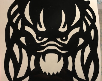Predator Sticker, Predator, Vinyl Sticker, Car Sticker, Horror Sticker, Laptop Sticker, Monster Sticker, Black Sticker