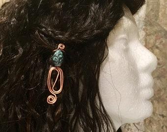 Hair Jewelry, Braid Jewelry, Braid Wire Wrap, Beaded Dread Jewelry, Dread Jewelry, Bellydance Hair Jewelry, Handmade Hair Jewelry