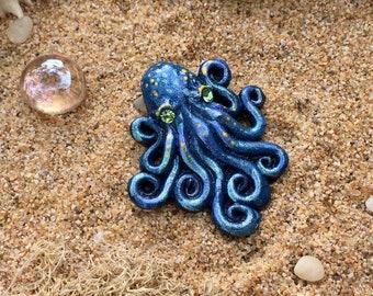 Mini Art, Steampunk Art, Refrigerator Magnet, Magnet, Magnet art, Octopus, Octopus art,