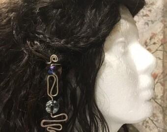 Hair Jewelry, Braid Jewelry, Braid Wire Wrap, Beaded Dread Jewelry, Dread Jewelry, Bellydance Hair Jewelry, Sothwestern Hair Jewelry