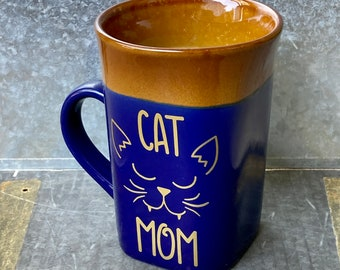 Funny Coffee Mug, Cat Mom Gift, Funny Gift, Cat Mom Coffee Mug, Funny Mug, Gift for Anyone, Cute Cat Coffee Mug