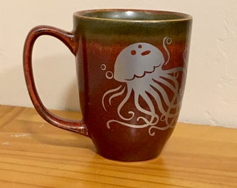 Jelly Fish, Birthday Gift, Ocean Gift, Coffee Mug, Gift for Ocean Lover, Ocean Theme, Jellyfish Art, Housewarming Gift, Mug