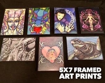 Mini Art, Steampunk Art, Art Print, Framed Art, Home Decor, Housewarming Gift,