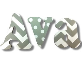 Wooden Letters, Wall Decor, Wall Letters, Wooden Sign, Personalized Name, Wall Hanging, Kids Room Decor, Nursery Letters, Painted Letters,