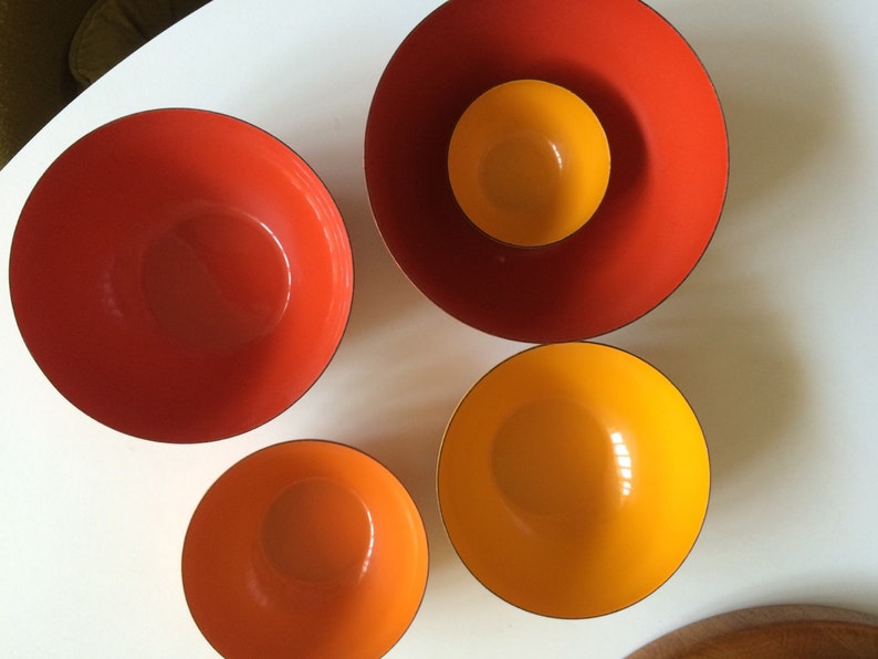 Finel Bowl set in sunset colors