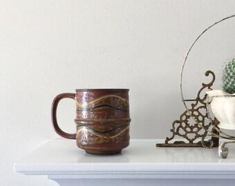 SALE / Vintage Mid Century Folk Pottery Mug   Home Decor, Kitchen