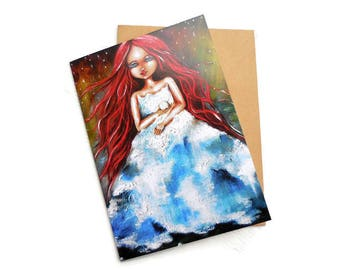 Goddess Art, Spiritual Art, Mother Earth, Fantasy Goddess Painting, Divine Feminine, Blank Greeting Card, Art Card, Disney, Princess,