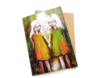 Best Friends Card, BFF Gift, Best Friends Forever, Friendship Gift, Besties, Soul Sister Gift, Sister Card, Gift for Friend,