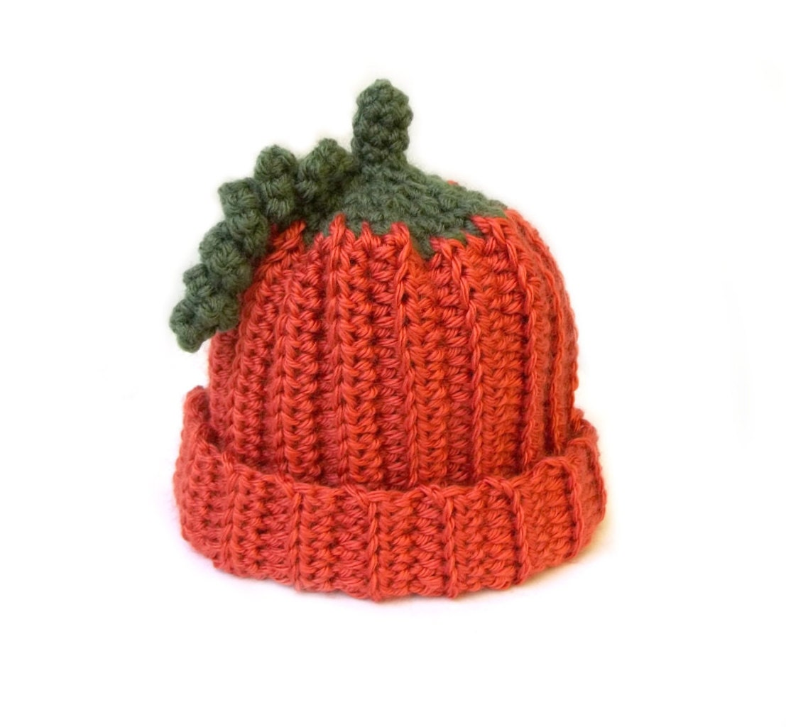 Babies Pumpkin Beanie Crochet Baby Hat Orange Halloween Baby  aecec118f2ad