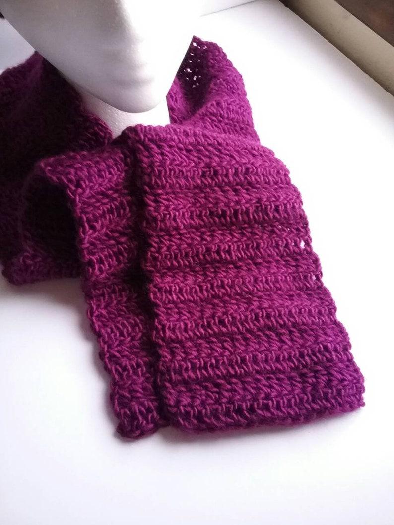 Purple Crochet Hat and Scarf Set Purple Womens Beanie Womens Accessories