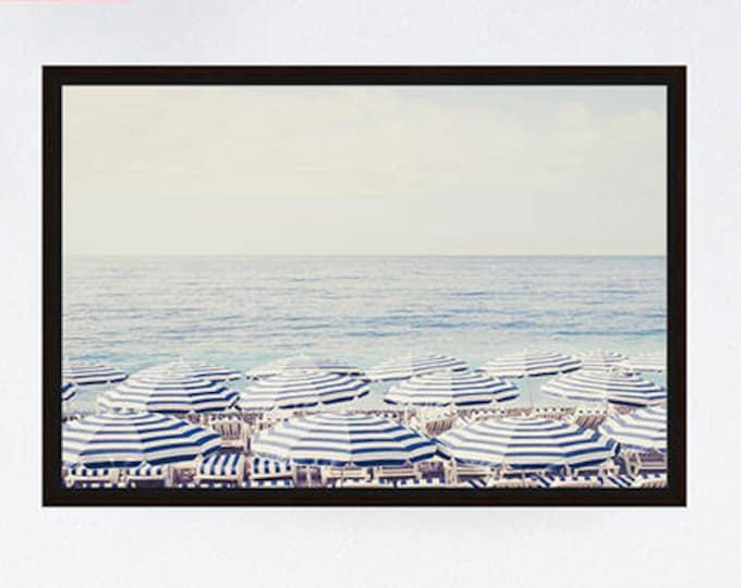 Aerial beach photography framed canvas, Wedding gift, Large wall print, Wall decor, French riviera print, Nautical home decor, Beach canvas