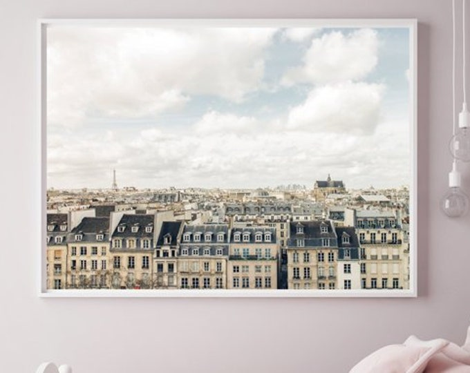 Paris Wall Print - Eiffel Tower Photography Print - Paris Canvas Wrap