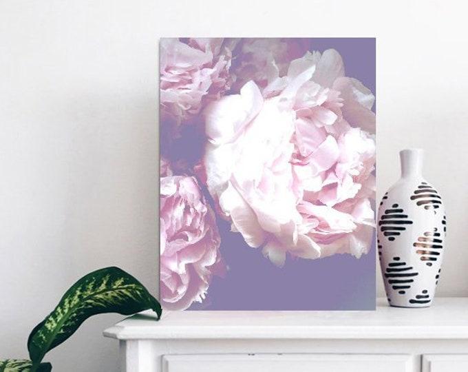 Peony wall print - Floral Bedroom Print