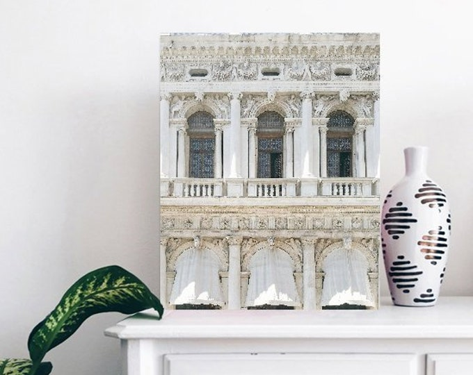 Venice Wall Print - White Architecture Print