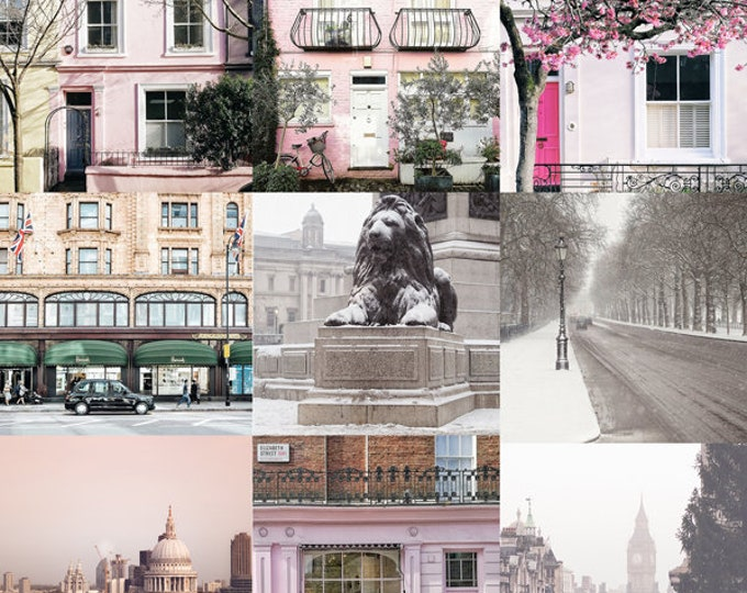 London photography print set, London wall art, London decor, fine art set, London prints, Travel photography, Gallery wall, Gift for her