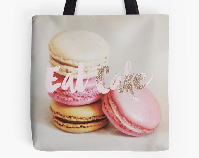 French Tote Bag - Paris bag - Macaron bag - Eat Cake
