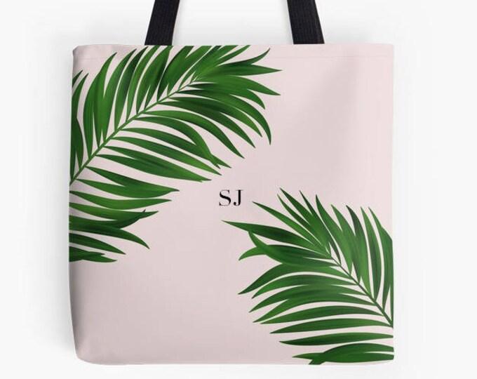 Personalised Palm Print bag, Monogrammed bag, gift for her, pink bag, green bag, beach bag, Summer bag, Summer accessories