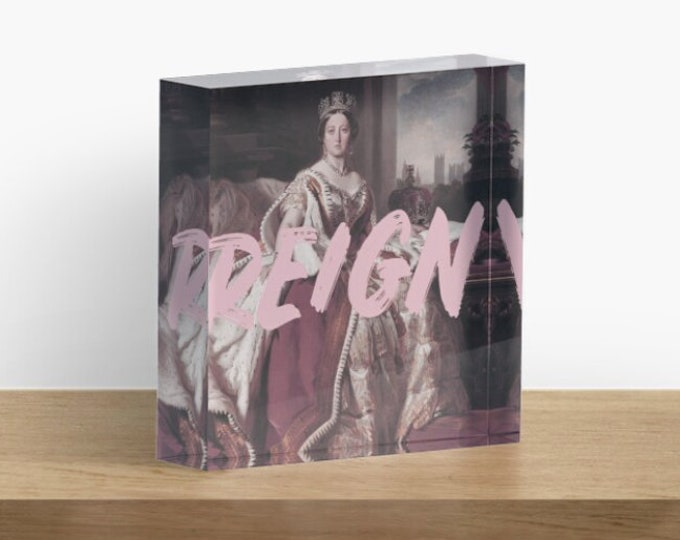 Queen Victoria Acrylic Block Art