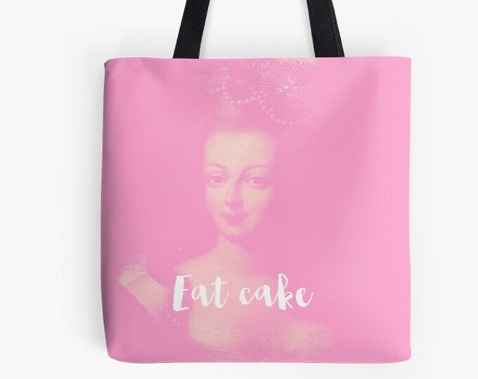 French Tote Bag - Paris bag - Marie Antoinette bag - Eat Cake