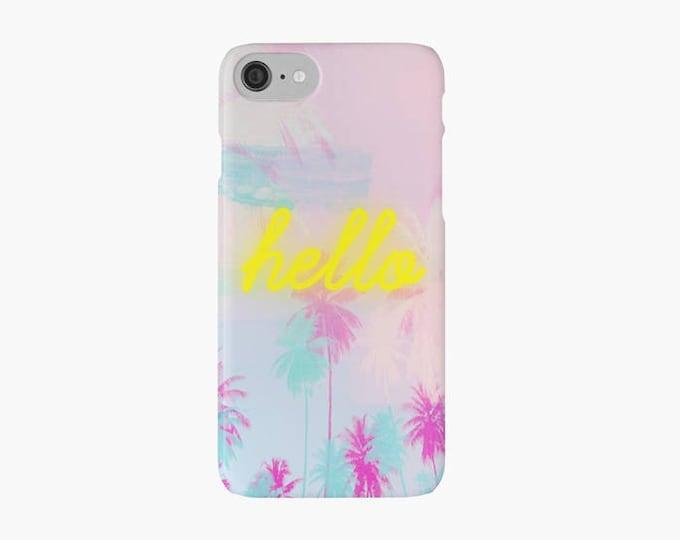 Palm Tree iPhone 8 case, iPhone 8 plus case, neon iPhone case, pink iPhone case, iPhone X case