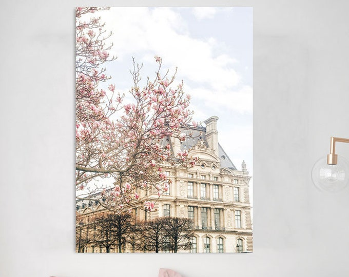Paris Photography Print - Paris Wall Print - Paris Blooms Canvas - Paris Poster