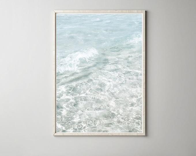 Waves beach photography print - Ocean Print - Sea Photography print