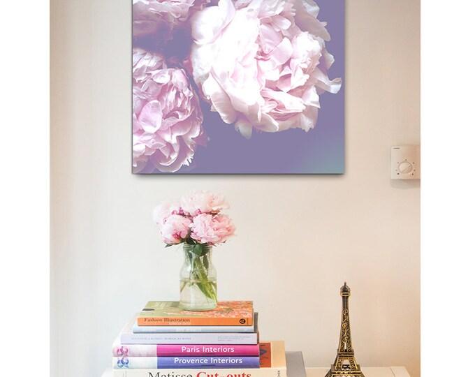 Peony Floral print - Floral print - canvas wraps - feminine decor