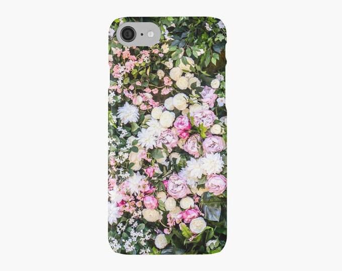 Green Floral iPhone 7 case, iPhone 7 plus case, flowers, pretty iPhone case, iPhone 6 case, flowers iPhone case