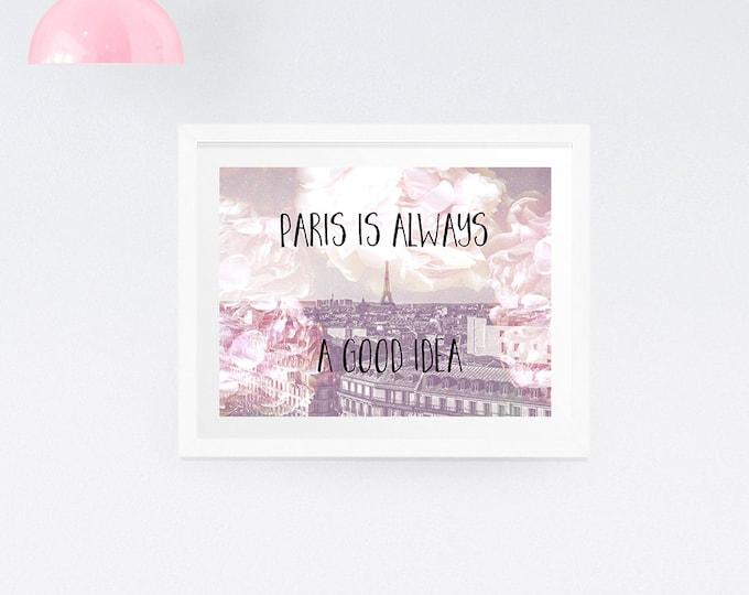 Paris typography print - dreamy print