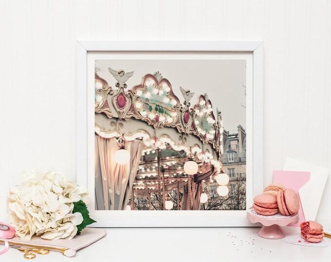 Paris Carousel photography print - Paris nursery decor
