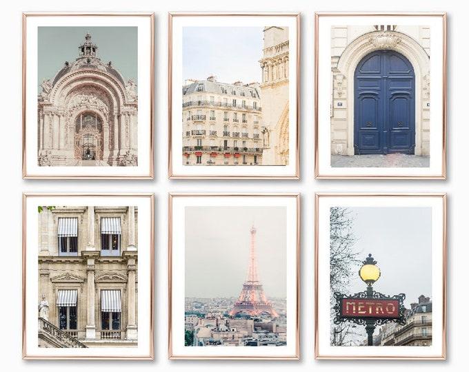 Paris Wall Print Set - Paris Photography Prints - Eiffel Tower Print - Paris Gallery Wall Prints