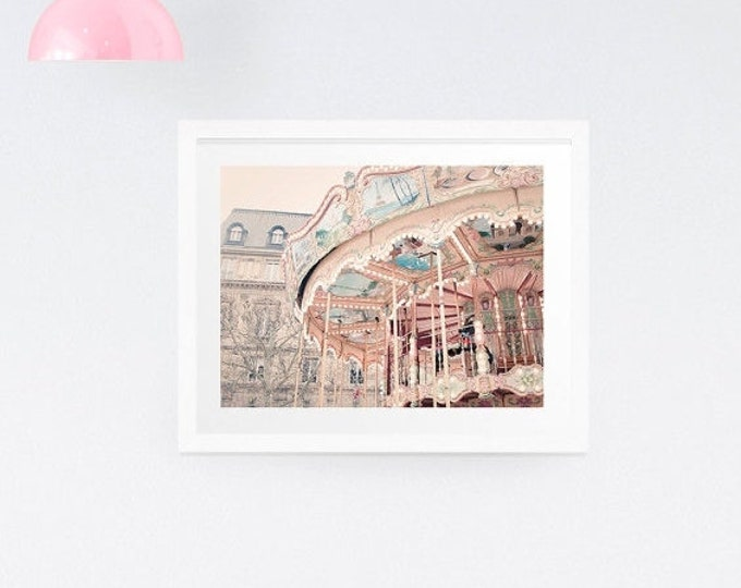 Paris Carousel Photography Print - Paris nusery print