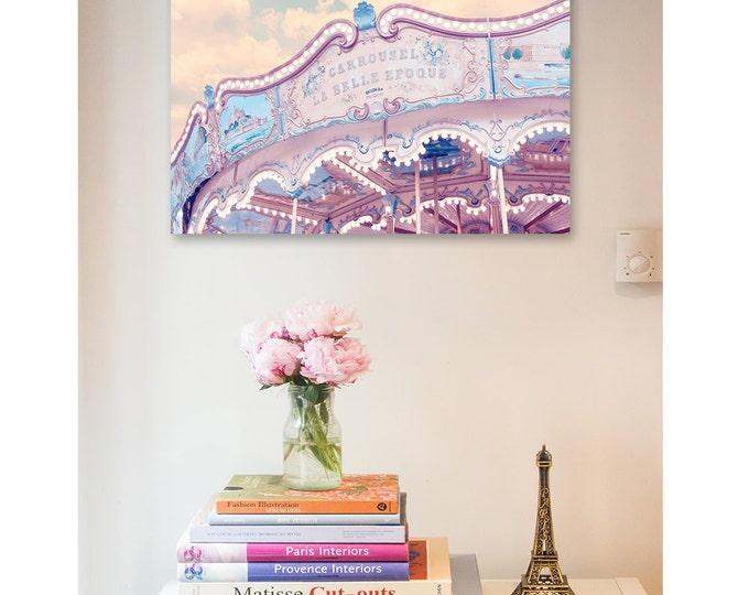 Paris Photography Print - Carousel print, Paris Art, Nursery - Framed Paris print - Paris canvas