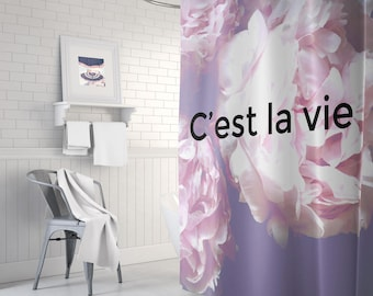 Peony Floral Shower Curtain