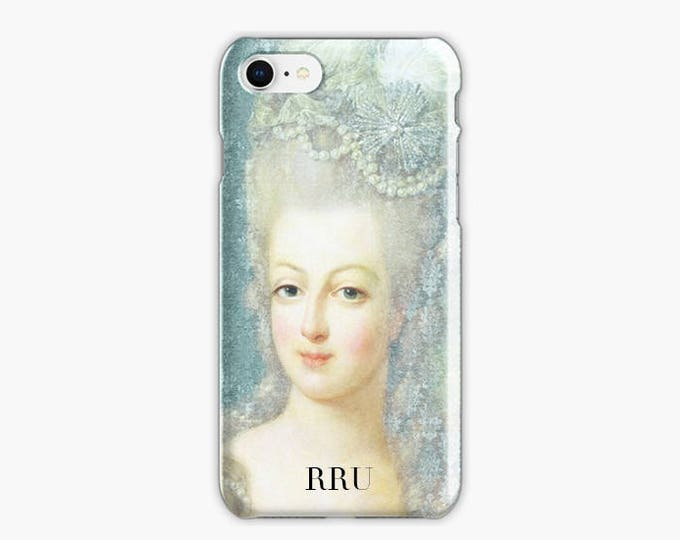 Monogrammed Marie-Antoinette iPhone 8 case, iPhone 8 plus case, blue iPhone case, iPhone X case, French iPhone case, Gift for her