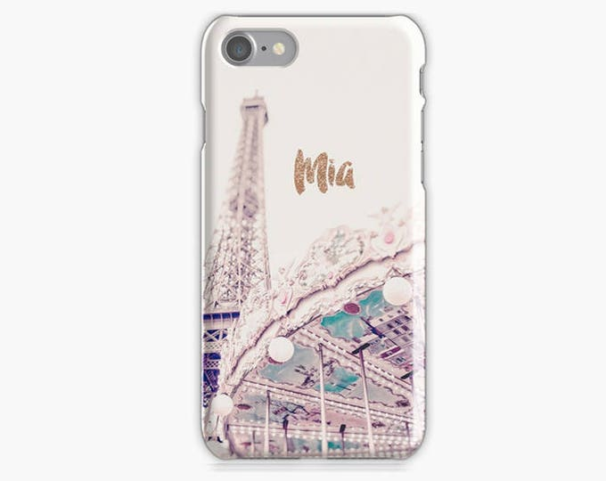 Paris iPhone 8 case, iPhone 8 plus case, iPhone 8 case, Eiffel Tower gift, Gift for her, Pastel iPhone case, Device case, French iPhone case