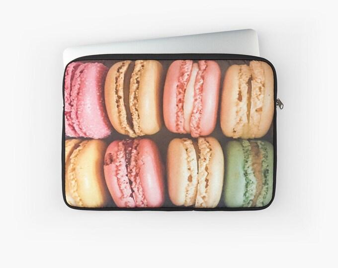 Macaron Laptop Case - Paris Laptop Sleeve - Tablet case