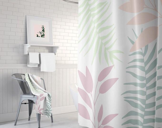 Tropical Shower Curtain - Botanical Decor